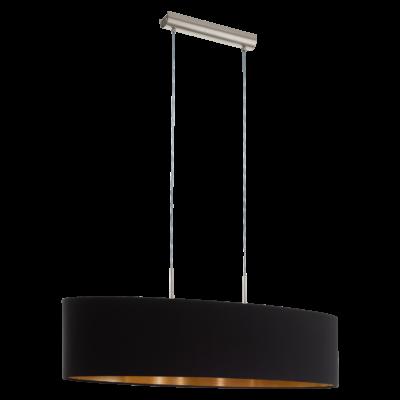 EGLO 94916 PASTERI Textil függesztett lámpa, 100cm, fekete/réz, 2 db. E27 foglalattal + ajándék LED fényforrás