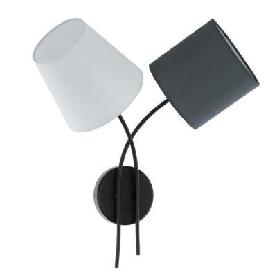 EGLO 95193 ALMEIDA Textil fali lámpa, többszínű, 42x45,5cm, 2 db E14 foglalattal