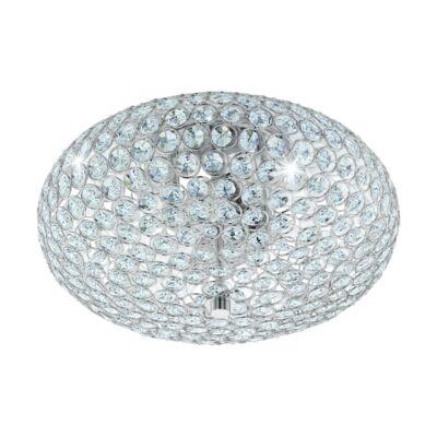 EGLO 95284 CLEMENTE Kristály mennyezeti lámpa, 35cm átmérő, 2 db E27 foglalat + ajándék LED fényforrás