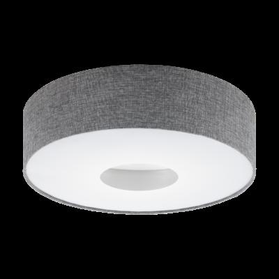 EGLO 95346 ROMAO Textil mennyezeti LED lámpa, 24W, 2700lm, 3000K melegfehér, 50cm, szürke, fényerőszabályozható