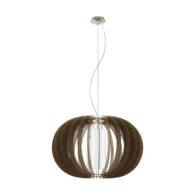 EGLO 95593 STELLATO 3 Fa függesztett lámpa, 70cm, sötétbarna, E27 foglalattal + ajándék Access távirányítós(11807) LED fényforrás