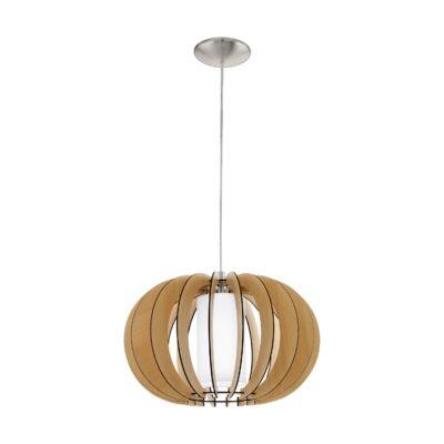 EGLO 95598 STELLATO 1 Fa függesztett lámpa, 40cm, juhar, E27 foglalattal + ajándék LED fényforrás