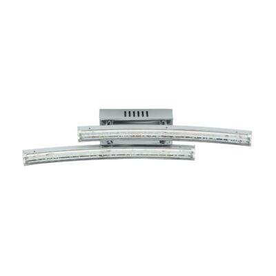 EGLO 96097 PERTINI Fali LED lámpa, 33cm, króm/átlátszó, 2x3W, 3000K melegfehér, 760lm