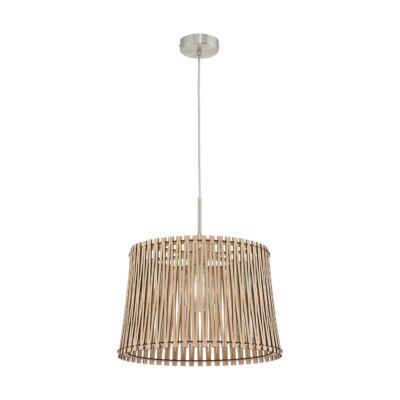 EGLO 96192 SENDERO Fa függesztett lámpa, 38cm, juhar, E27 foglalattal + ajándék LED fényforrás