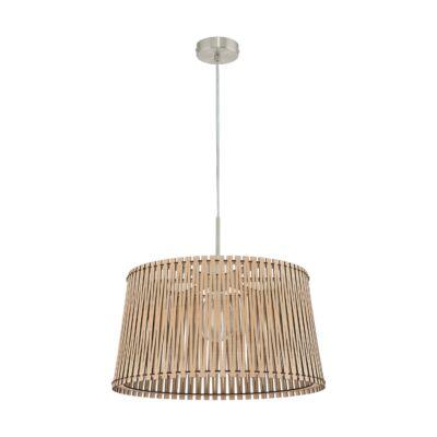 EGLO 96193 SENDERO Fa függesztett lámpa, 45cm, juhar, E27 foglalattal + ajándék LED fényforrás