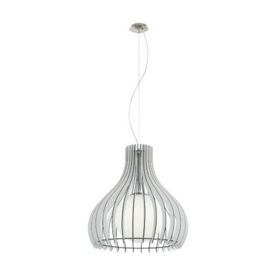 EGLO 96211 TINDORI Fa függesztett lámpa, 50cm, fehér, E27 foglalattal + ajándék Access távirányítós(11807) LED fényforrás