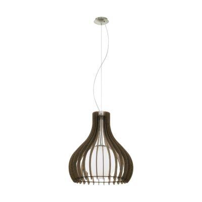 EGLO 96217 TINDORI Fa függesztett lámpa, 50cm, sötétbarna, E27 foglalattal + ajándék Access távirányítós(11807) LED fényforrás