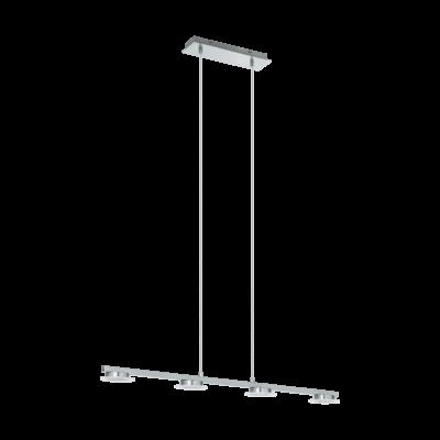 EGLO 96525 CARTAMA 1 Króm kerek LED függeszték, 78cm, 4x4,5W, 3000K melegfehér, 1920lm, szabályozható fényerő