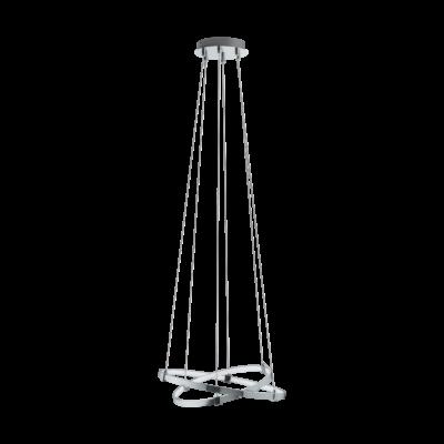 EGLO 96639 NEBREDA Függesztett LED lámpa, 45cm, króm, 15,4W, 3000K melegfehér, 1580lm