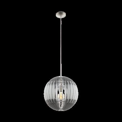 EGLO 96747 OLMERO Fa függesztett lámpa, 40cm, szürke/fehér, E27 foglalattal