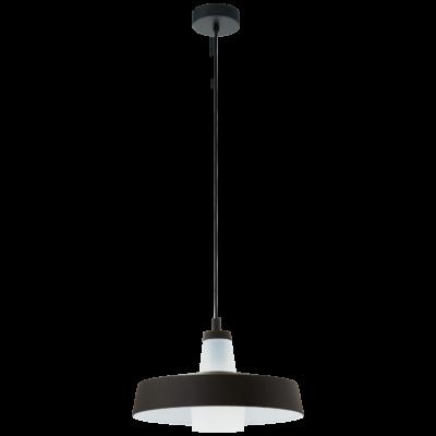 EGLO 96803 TABANERA Fekete/fehér függesztett lámpa, E27 foglalattal, 36,5cm átmérő, 60W + ajándék LED fényforrás