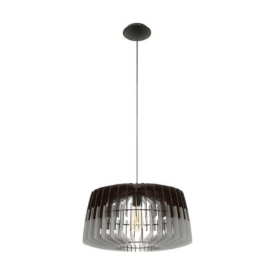 EGLO 96956 ARTANA Fa függesztett lámpa, 48cm, fekete/szürke, E27 foglalattal