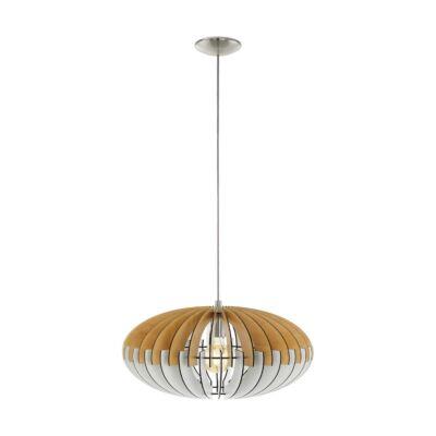 EGLO 96963 SOTOS Fa függesztett lámpa, 50cm, natúr fa/fehér, E27 foglalattal + ajándék LED fényforrás
