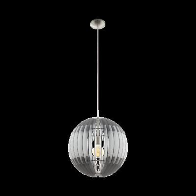 EGLO 96973 OLMERO Fa függesztett lámpa, 50cm, szürke/fehér, E27 foglalattal + ajándék LED fényforrás