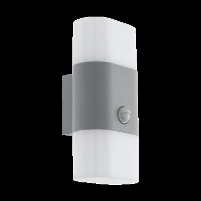 EGLO 97313 FAVRIA 1 kültéri fali LED lámpa, mozgásérzékelővel, kapcsolóval, ezüst