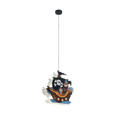 EGLO 97409 SAN CARLO Színes függesztett lámpa, gyermekeknek 2 db. E27 foglalattal, 42,5x14cm, 110cm, 2x40W