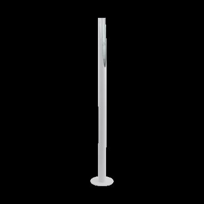 EGLO 97582 BARBOTTO Fehér/ezüst álló LED lámpa, GU10 foglalattal, 137cm magas, 5W, 3000K melegfehér, 400lm