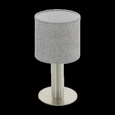 EGLO 97675 CONCESSA 2 Szürke asztali lámpa, E27 foglalattal, 30cm magas, 1x60W + ajándék LED fényforrás