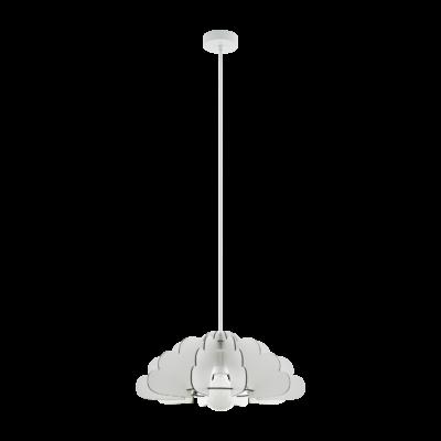 EGLO 97701 CHIETI Fehér függeszték, E27 foglalattal, 49cm átmérő, 110cm, 1x60W + ajándék LED fényforrás