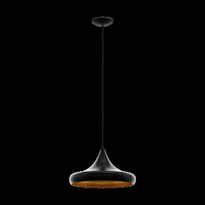 EGLO 97739 CORETTO 4 Fekete/réz függeszték, E27 foglalattal, 40cm átmérő, 110cm, 1x60W + ajándék LED fényforrás