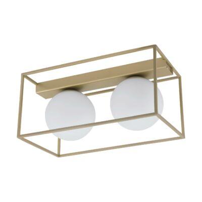 EGLO 97792 VALLASPRA Arany asztali lámpa, 2 db. E14 foglalattal, 19x35cm, max. 2x40W + ajándék LED fényforrás