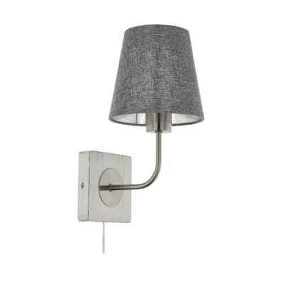 EGLO 97887 PAUSIA szürke fali lámpa, E27 foglalattal, 16x32cm, max. 1x40W + ajándék LED fényforrás