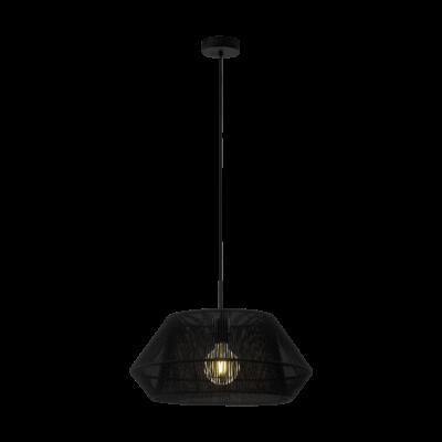 EGLO 97912 PALMONES fekete, függesztett lámpa, E27 foglalattal, 48,5cm átmérő, max. 1x60W + ajándék Access távirányítós(11807) LED fényforrás