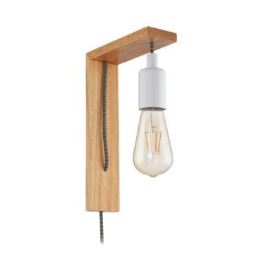 EGLO 97916 TOCOPILLA fa/fehér fali LED lámpa, E27 foglalattal, 18x27,5cm, max. 1x10W + ajándék LED fényforrás