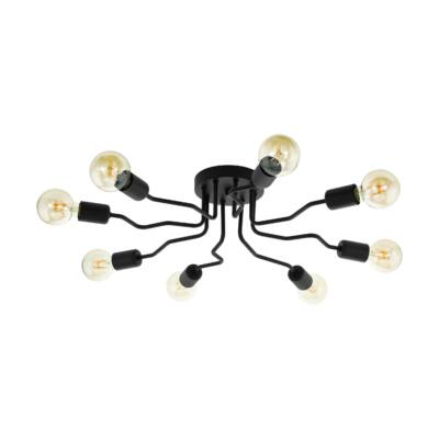 EGLO 97985 ORAZIO Fekete mennyezeti lámpa, 9X E27 foglalattal, 69x14,5cm + ajándék LED fényforrás