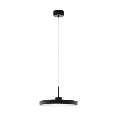 EGLO 98165 ALPICELLA Függeszett LED lámpa, matt fekete, 22,5W, 3000K, 2500lm, 40cm átmérő, fényerőszabályozható