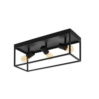 EGLO 98333 SILENTINA Mennyezeti lámpa, fekete, 3XE27 foglalattal, 54x20,5cm + ajándék LED fényforrás