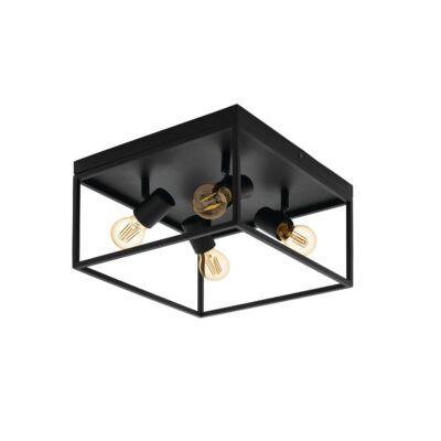 EGLO 98334 SILENTINA Mennyezeti lámpa, fekete, 4XE27 foglalattal, 36x20,5cm + ajándék LED fényforrás