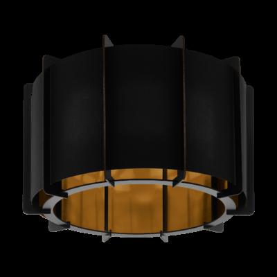 EGLO 98339 PINETA Fa mennyezeti lámpa, lámpa, 43cm átmérő, fekete, arany, E27 foglalattal + ajándék LED fényforrás