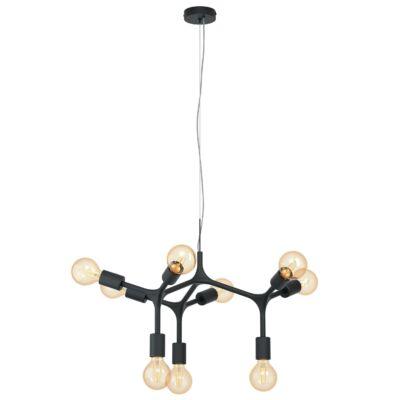 EGLO 98346 BOCADELLA Függesztett lámpa, E27 foglalattal, fekete, 64x110cm + ajándék LED fényforrás