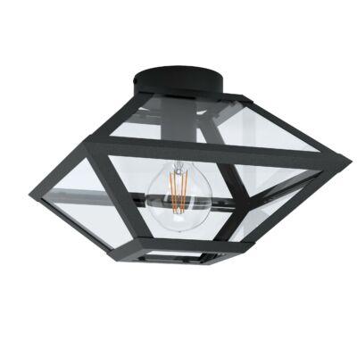 EGLO 98355 CASEFABRE Fekete, üveg mennyezeti lámpa, E27 foglalattal, 31x21,5cm
