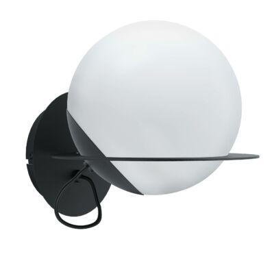 EGLO 98365 SABALETE Fali lámpa, fekete, opál üveg bura E27 foglalat 24x21cm + ajándék LED fényforrás