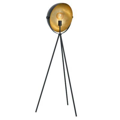 EGLO 98458 DARNIUS Fekete,arany állólámpa, E27 foglalattal, 142cm + ajándék Access távirányítós(11807) LED fényforrás