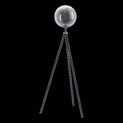 EGLO 98509 ISORELLA Fekete, króm állólámpa, E27 foglalattal, 140cm + ajándék Access távirányítós(11807) LED fényforrás