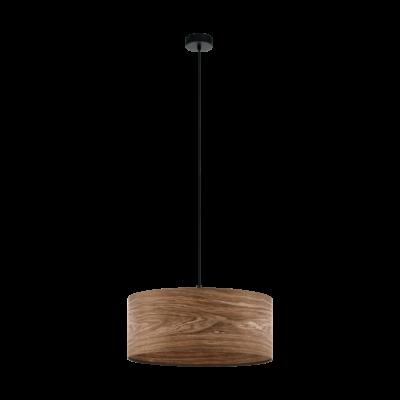 EGLO 98548 CANNAFESCA Fa függesztett lámpa, 53cm átmérő, barna, 3XE27 foglalattal