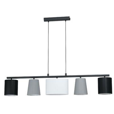 EGLO 98588 ALMEIDA 1 Textil függesztett lámpa, fekete, szürke, fehér, 5+X E14 foglalat 120x110cm + ajándék LED fényforrás