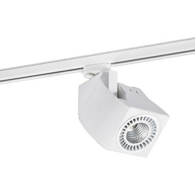 FARO Fokus 3 fázisú sínre szerelhető lámpa, fehér, DALI szabályozás, 3000K, beépített LED, 2260 lumen, 56°, 010404401D