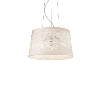IDEAL LUX BASKET függesztett lámpa 3 db E27 foglalattal, max. 3x60W, 40 cm átmérő, fehér 82509