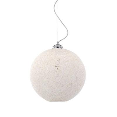 IDEAL LUX BASKET függesztett lámpa E27 foglalattal, max. 60W, 40 cm átmérő, fehér 96162