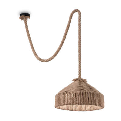 IDEAL LUX CANAPA függesztett lámpa E27 foglalattal, max. 60W, 41 cm átmérő, kötél 134833