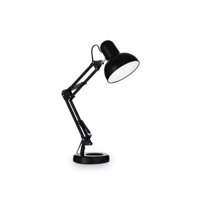 IDEAL LUX KELLY asztali lámpa E27 foglalattal, max. 42W, 15,5 cm átmérő, állítható magasság, fekete 108094