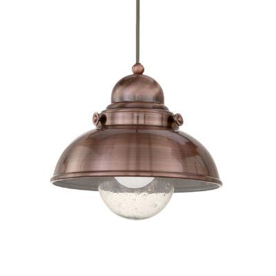 IDEAL LUX SAILOR függesztett lámpa E27 foglalattal, max. 60W, 29 cm átmérő, réz 25278