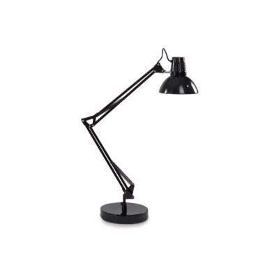 IDEAL LUX WALLY asztali lámpa E27 foglalattal, max. 42W, állítható magasság, fekete 61191