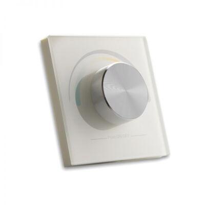SysCon 1 zónás fehér elemes fali LED távvezérlő forgatógombbal