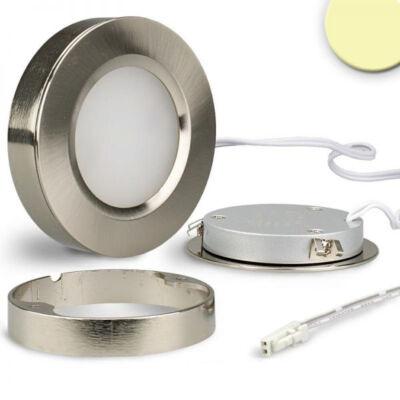 Sys-Slim bútorba süllyeszthető LED lámpa, 3W, 160lm, 2800K melegfehér, CRI80, IP52, 120°, 7cm átmérő, ezüst, fényerőszabályozható