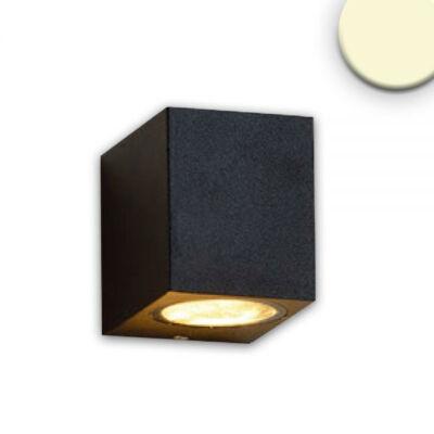 Kültéri falra szerelhető lámpa, GU10 foglalattal, IP54, 6,7x9,2x8cm, fekete